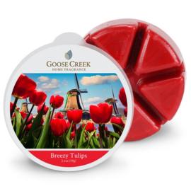 Breezy Tulips Goose Creek  1 Wax Melt Blokje