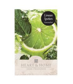 Limoen Spetters Heart & Home Geurzakje