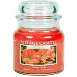 Velvet Petals Village Candle  Medium  105 Branduren