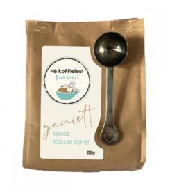 Koffiezak 250 gram biologische koffie  Hé koffieleut van harte!