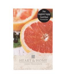 Frisse Grapefruit & Sappige Zwarte Bessen Heart & Home Geurzakje