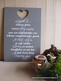 Liefde is Tekstbord