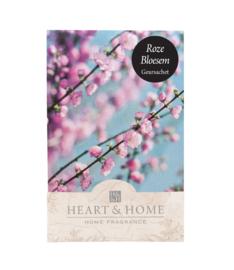 Roze Bloesem Heart & Home Geurzakje