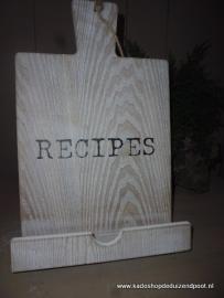Kookboek standaard met tekst