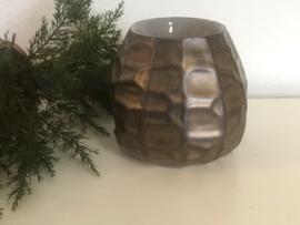 Waxmelt-Olie  Geurbrander  Chiselled  Brons  10,5 X 12,6 cm