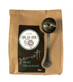 Koffiezak 250 gram biologische koffie  Voor Opa en Oma