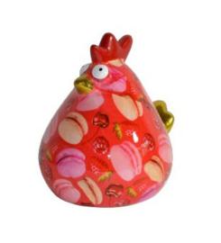 Pomme Pidou Spaarpot Kip Matilda  Rood Macarons