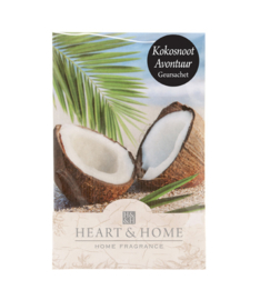 Kokosnoot Avontuur Heart & Home Geurzakje