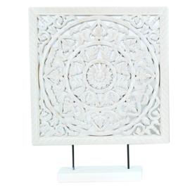 Decoratie wit hout 40 cm