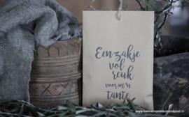Geurzakje ''Een zakje vol reuk voor m´n Tante''