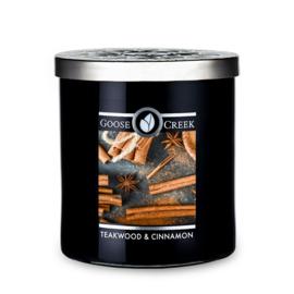Teakwood & Cinnamon Goose Creek Candle Soy Wax Blend 50 branduren