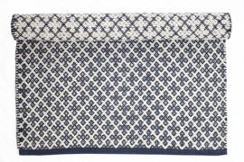 Vloerkleed Blauw - Wit   60x90cm