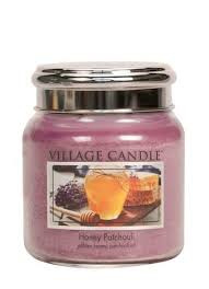 Honey Patchouli Village Candle  Medium  105 Branduren