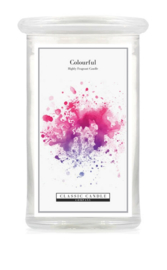Colourfull Classic Candle Large 2 wick