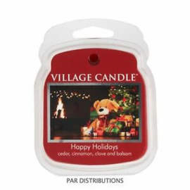 Happy Holidays Village Candle  Wax Melt