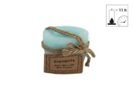 Kaars  turquoise  en  jute touw