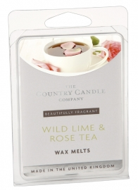 Wild Lime & Rose Tea The Country Candle Company Waxmelt
