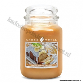 Sweet Banana Bread Goose Creek Candle 24oz Large Jar