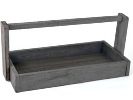 Dienblad hout Antique Grey