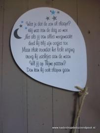 Ballon met Tekst Wist je dat de zon al slaapt ?