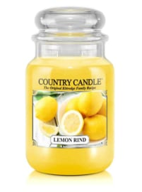 Lemon Rind Country Candle Large Jar 150 Branduren