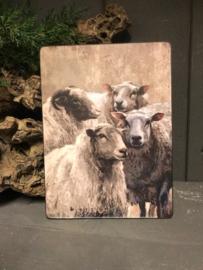Bordje Nostalgish met schapen