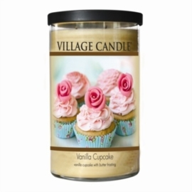 Vanilla Cupcake Decor 24oz (889g) Fragranced Candle Jar