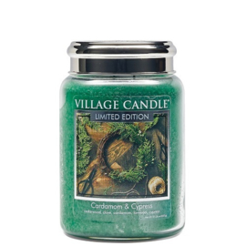 Cardamon & Cypress Village  Candle Limited Edition    Large 170 Branduren