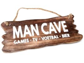 Tekstbord hangend 12 x 30  Man Cave
