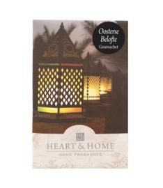 Oosterse Belofte  Heart & Home Geurzakje