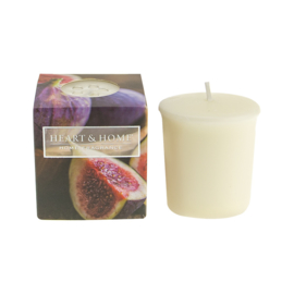 Tuscan Fig Heart & Home Votive Geurkaars  52 gram