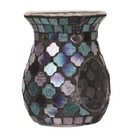 Mixed Bleu Mosaic Wax Melt Burner