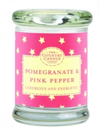 Pommegranate & Pink Pepper  mini geurkaars The Country Candle 20 geururen