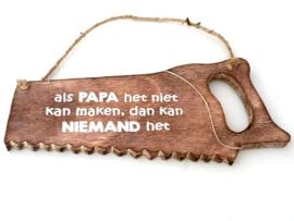Zaag 32 cm Naturel  Als Papa het niet ...