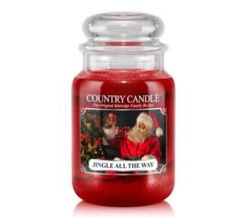 Merry Christmas Country Candle Large Jar 150 Branduren