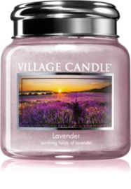 Lavender Village Candle  Medium  105 Branduren