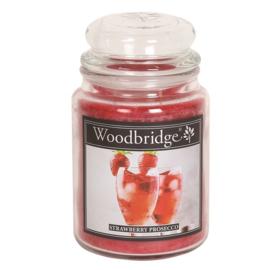 Strawberry Prosecco Woodbridge Apothecary Scented Jar  130 geururen