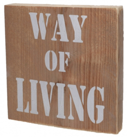 Way of Living Houten teksbordje