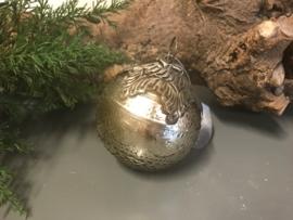 Kerstbal oud zilver