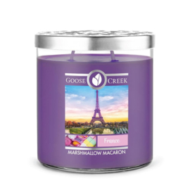 Marshmallow Macaron  Goose Creek France World Traveler 2 Wick 453 gram