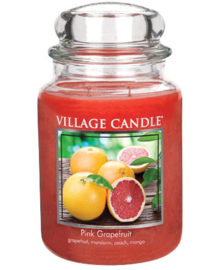 Pink Grapefruit  Village Candle  Large  Jar 170 Branduren