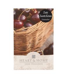 Zoete Zwarte Kers Heart & Home Geurzakje