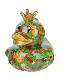 Pomme Pidou Spaarpot King Ducky  Groen met Fruit
