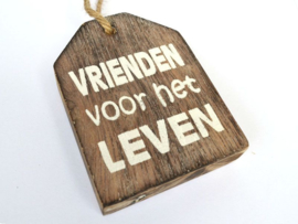 "Hanger label  ""vrienden"" naturel"