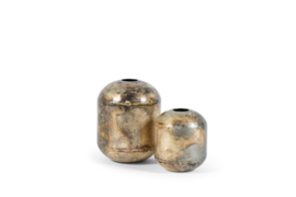 Vase silver old brass   20 x 26 cm