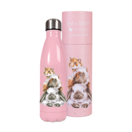 Wrendale Designs Waterfles Thermoskan 'Piggy in the Middle' (hamster) 500ml