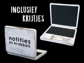 Krijtbord Laptop + krijtjes