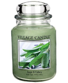 Sage & Celery Village Candle  Large Jar 170 Branduren