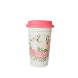 Isabelle Rose Travel Mug Alice with Silicon Sleeve 350ml