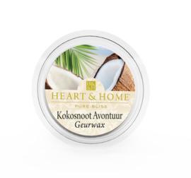Kokosnoot Avontuur Heart & Home Waxmelt